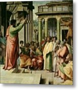 St. Paul Preaching At Athens  Metal Print by Raphael