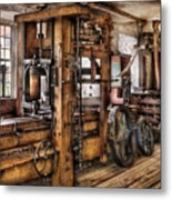 Steam Punk - The Press Metal Print by Mike Savad