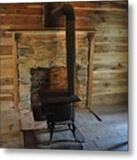Stove In A Cabin Metal Print by Jeff Moose