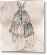Strapless Champagne Dress Metal Print by Lauren Maurer