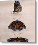 Study Of The Stain-glass Creature Metal Print by Leslie M Browning