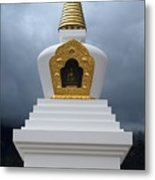 Stupa Of Enlightenment 1 Metal Print by Joseph R Luciano