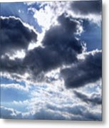 Sun Breaking Through The Clouds Metal Print by Mariola Bitner