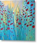 Sunlit Poppies Metal Print by Stacey Zimmerman