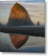 Sunrise On Haystack Rock - Oregon Metal Print by Sandra Bronstein