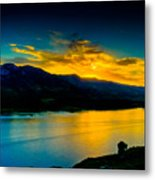 Sunset At Horsetooth Reservoir Metal Print by Harry Strharsky