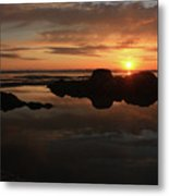 Sunset In Yachats Oregon Metal Print by Kami McKeon