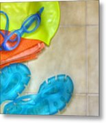 Swimming Gear Metal Print by Carlos Caetano