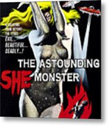 The Astounding She-monster, 1-sheet Metal Print by Everett