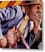 The Buffoon And The Countryman Metal Print by Denny Bond
