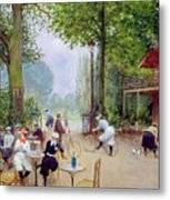 The Chalet Du Cycle In The Bois De Boulogne Metal Print by Jean Beraud