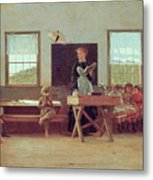 The Country School Metal Print by Winslow Homer