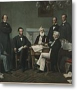 The First Reading Of The Emancipation Metal Print by Everett
