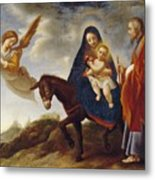 The Flight Into Egypt Metal Print by Carlo Dolci