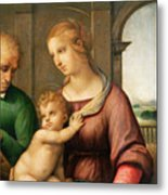 The Holy Family Metal Print by Raphael