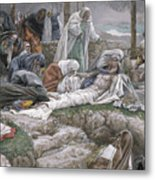 The Holy Virgin Receives The Body Of Jesus Metal Print by Tissot