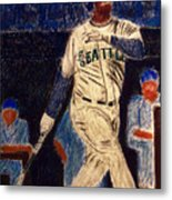 The Kid Feat Ken Griffey Jr Metal Print by D Rogale