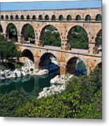 The Pont Du Gard Metal Print by Sami Sarkis