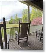 The Porch  Metal Print by Steve Gravano