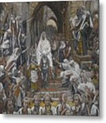 The Procession In The Streets Of Jerusalem Metal Print by Tissot