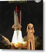 The Scream World Tour Space Shuttle Happy Birthday Metal Print by Eric Kempson