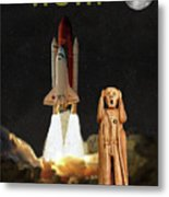 The Scream World Tour Space Shuttle Wow Metal Print by Eric Kempson