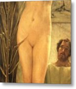 The Sculptor's Model Metal Print by Sir Lawrence Alma-Tadema
