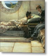 The Secret Metal Print by Sir Lawrence Alma-Tadema