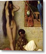 The Slave For Sale Metal Print by Jean Leon Gerome