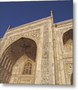 The Taj Mahals Pristine White Marble Metal Print by Jason Edwards