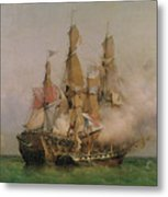 The Taking Of The Kent Metal Print by Ambroise Louis Garneray