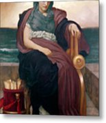 The Tragic Poetess Metal Print by Frederic Leighton