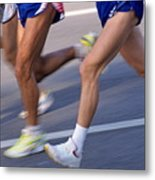 Three Runners Metal Print by Sami Sarkis