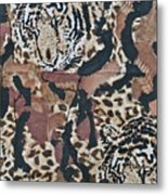 Tigers Tigers Burning Bright Metal Print by Ruth Edward Anderson