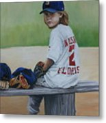 Time On The Bench Metal Print by Charlotte Yealey
