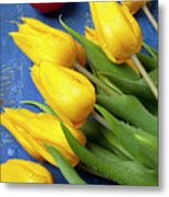 Tomato And Tulips Metal Print by Garry Gay