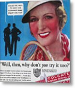 Toothpaste Ad, 1932 Metal Print by Granger