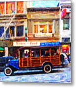 Touring The Streets Of San Francisco Metal Print by Wingsdomain Art and Photography