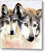 Two Become One Metal Print by Scarlett Royal