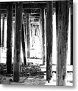 Under The Pier Metal Print by Linda Woods