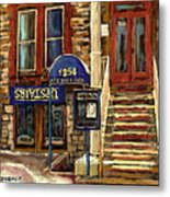 Upstairs Jazz Bar And Grill Montreal Metal Print by Carole Spandau
