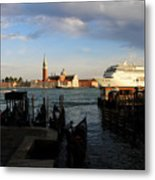 Venice Cruise Ship Metal Print by Andrew Fare