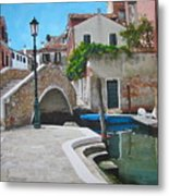 Venice Piazzetta And Bridge Metal Print by Italian Art