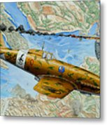 Victory Over Malta Metal Print by Charles Taylor