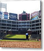 View From Dugout Metal Print by Malania Hammer