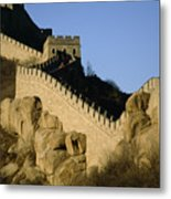 View Of A Section Of The Great Wall Metal Print by Michael S. Yamashita