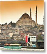 View Of Istanbul Metal Print by (C) Thanachai Wachiraworakam