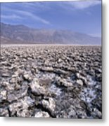 View Of The Devil's Golf Course Death Valley California Metal Print by George Oze