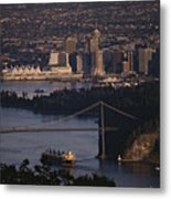 View Of Vancouver, British Columbia Metal Print by Annie Griffiths