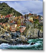 Village Of Manarola - Cinque Terre - Italy Metal Print by JH Photo Service